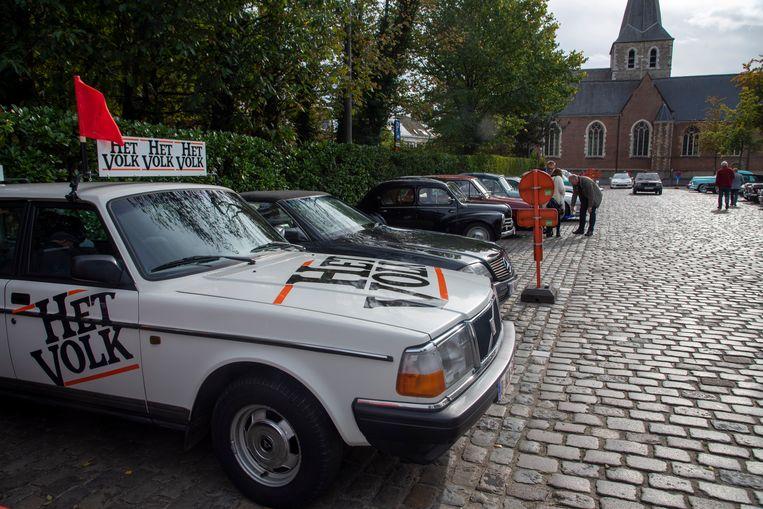 Gentsche Retro Wielen rondrit voor Rode Neuzen in Laarne.