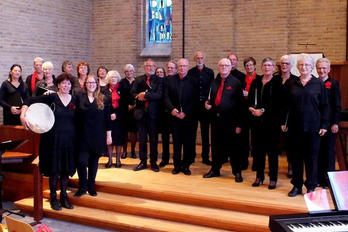 Gemengd koor Canticum geeft een feestelijk concert in het museum op Schokland.