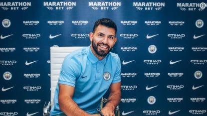 """FT buitenland. Agüero verlengt zijn contract bij Manchester City: """"Wil hier tien jaar blijven"""""""