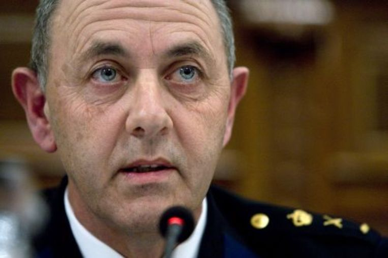Korpschef Aad Meijboom stapt op als er mensen ontslagen worden naar aanleiding van de rellen in Hoek van Holland. Foto ANP Beeld