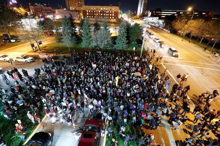 Anti-Trump-betogers in Minnesota. Beeld reuters