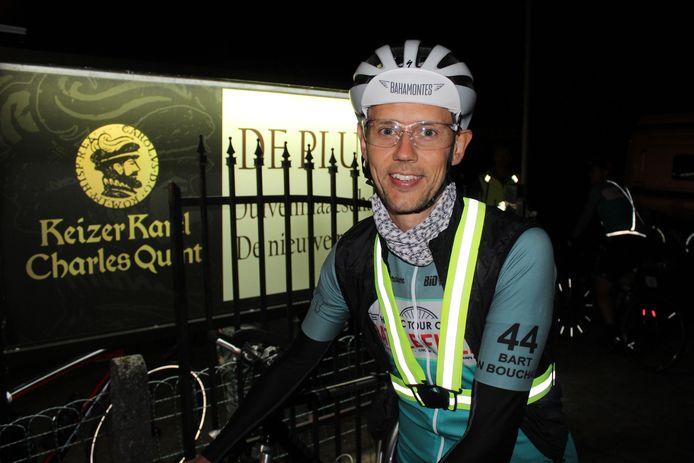 Bart Van Bouchaute, net voor de start.