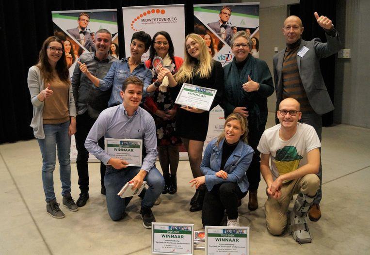 Het idee van Kiany Valck (Vives), Charles Staelens (Howest), Annelies Cocquyt (Howest) en Jorre Clynckemaillie (Vives) kon op de meeste appreciatie van de jury rekenen.