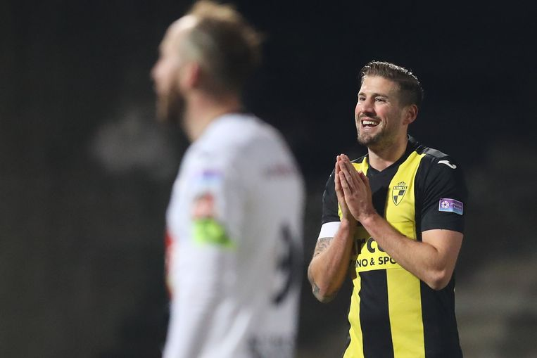 Lierse's Frederic Frans reacts during a soccer game between Lierse SK and KSV Roeselare, in Lier, Friday 16 February 2018, on day 27 of the division 1B Proximus League competition of the Belgian soccer championship. BELGA PHOTO BRUNO FAHY