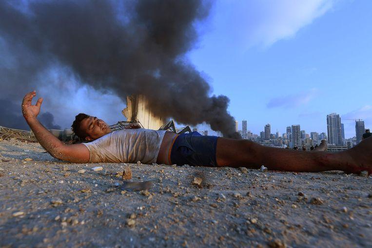 Het aantal gewonden is vastgesteld op vijfduizend, maar blijft oplopen. Beeld AFP