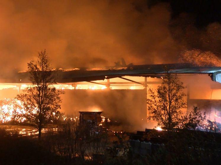 Zeer grote brand verwoest landbouwschuur Philippine