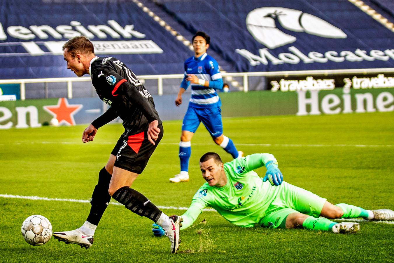 Mario Götze maakte al na acht minuten zijn eerste goal voor PSV.