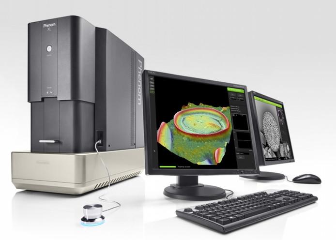 De Phenom XL elektronenmicroscoop.