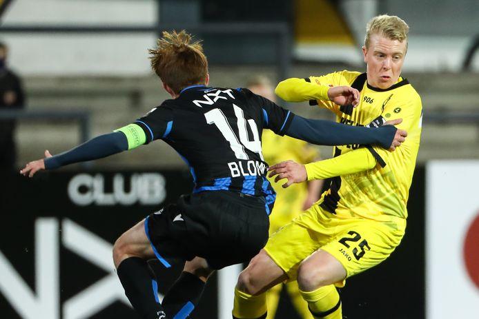 Jo Gilis aan het werk tegen de beloften van Club Brugge. Dit weekend moeten Gilis en co zich proberen te herpakken tegen Westerlo.