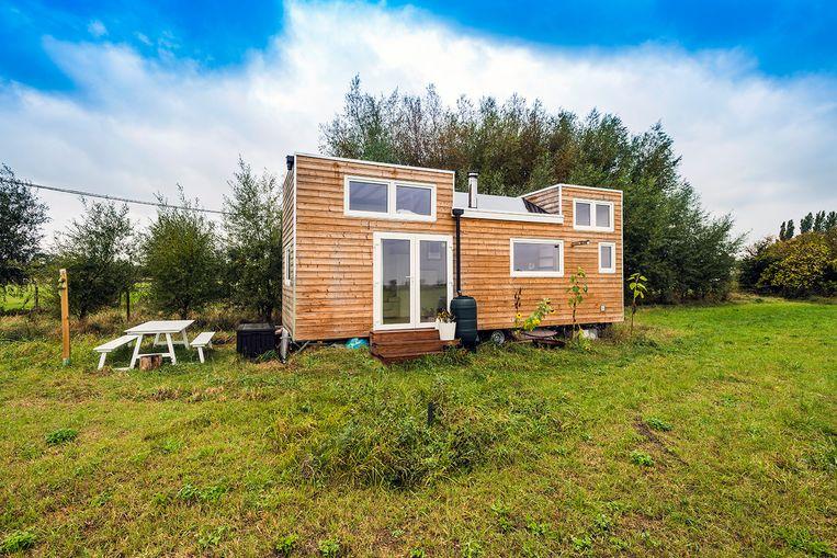 Jeroen leeft in een mobiel tiny house van 3 meter breed op 8,5 meter lang.