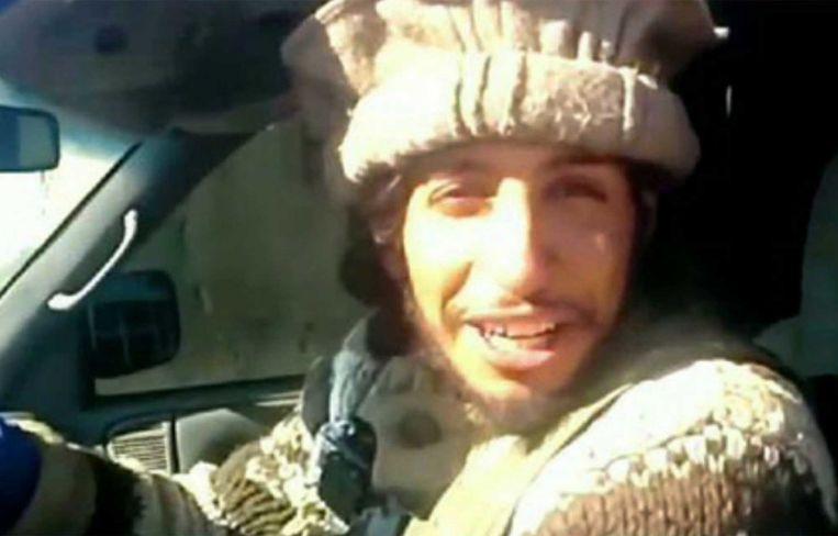 Beeld uit een video van IS. Beeld ap