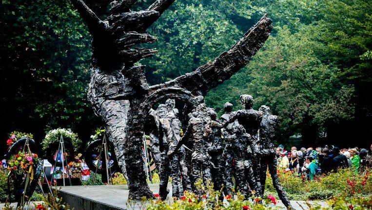Het Nationaal Monument Slavernijverleden tijdens de nationale herdenking van de afschaffing van de slavernij in het Oosterpark Beeld anp