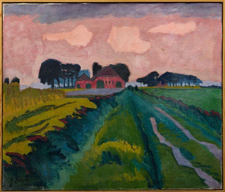 Jan Altink, 'De rode boerderij', 1926 Beeld collectie stichting de ploeg
