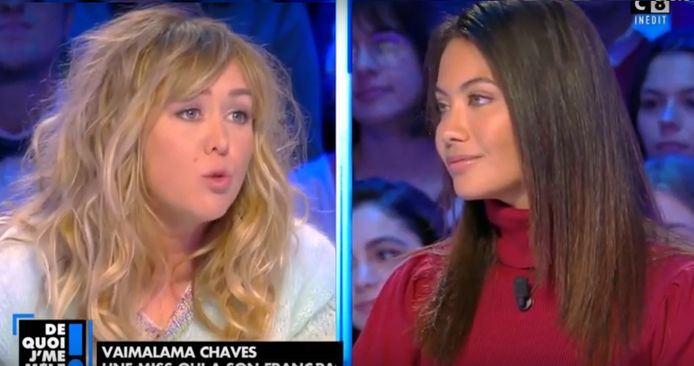 Enora Malagré n'a pas maché ses mots face à l'ancienne Miss France Vaimala Chaves.