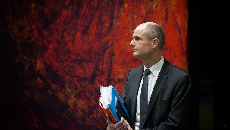 Minister Stef Blok voor Wonen en Rijksdienst tijdens een debat in de Tweede Kamer over Wet doorstroming huurmarkt. Beeld anp