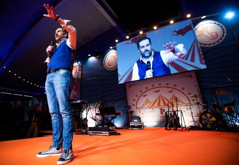 Klaas Dijkhoff tijdens het VVD partijfestival in Den Bosch. Beeld Freek van den Bergh