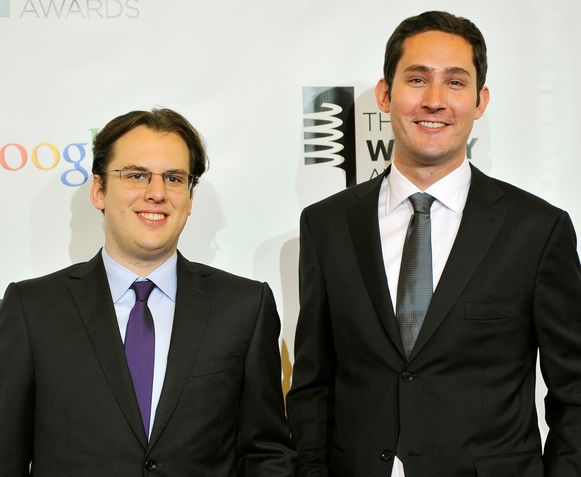Mike Krieger en Kevin Systrom in 2012.