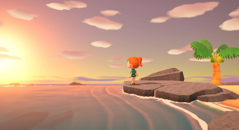 In 'Animal Crossing: New Horizons' geef je zelf je eiland vorm. Het spel heeft geen ander doel dan dat. Beeld Nintendo