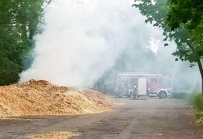 Broeibrand op sportpark Schenkeldijk in Dordrecht