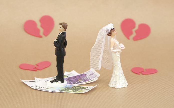 In circa 16 procent van de echtscheidingen wordt er een alimentatieregeling getroffen