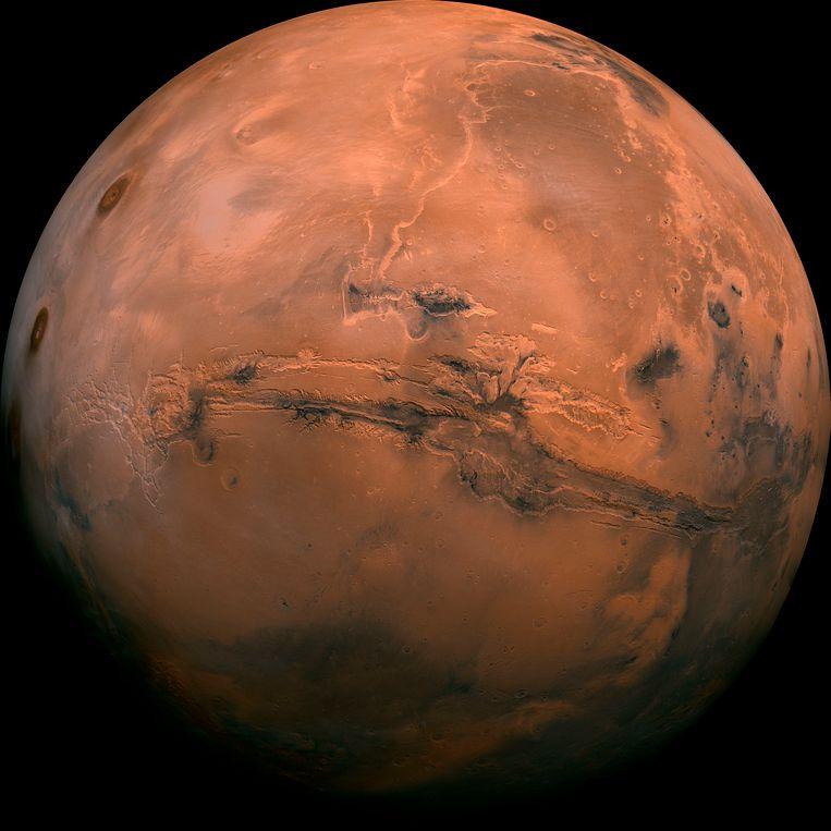 De planeet Mars. Beeld AP / NASA