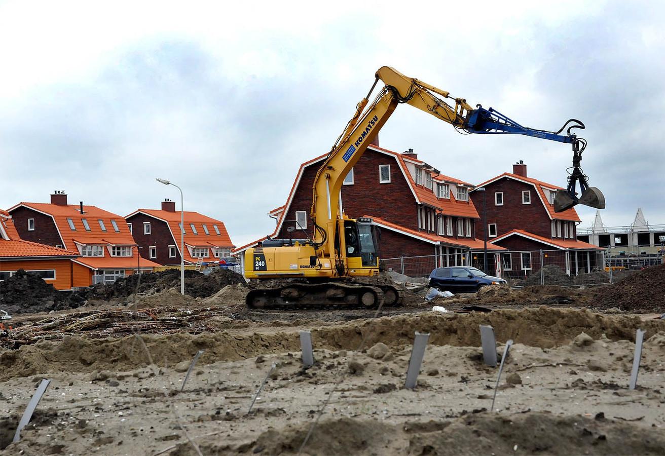 Het land en de woning van de agrariër lagen midden in nieuwbouwwijk Hoog Dalem.
