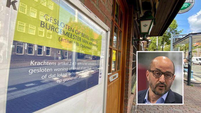 Burgemeester Ahmed Marcouch van Arnhem (inzet) heeft café 't Klinkertje in zijn stad laten sluiten.