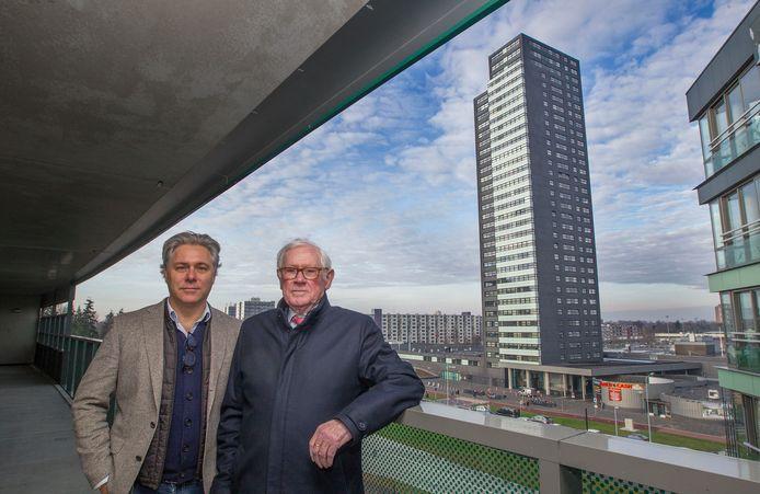 Theo Hurks samen met zijn zoon Geert, in 2016.