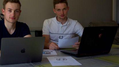 Technisch werkloos sinds 13 maart? Wielrenners Mathias (19) en Wesley (20) starten eigen marketingbedrijfje op en helpen firma's bij heropstart