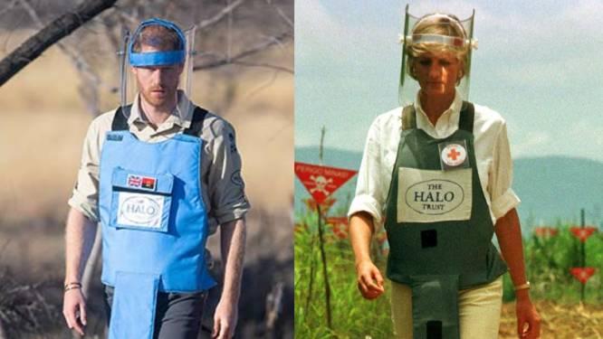 Prinses Diana trok 22 jaar geleden naar Angola, nu treedt prins Harry in haar voetsporen