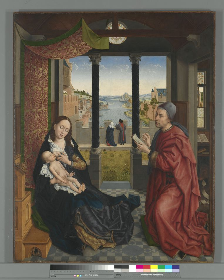 Navolger van Rogier van der Weyden Lucas schildert Madonna en kind. Na 1484; olieverf op paneel; 138,6 x 111,5 cm. Alte Pinakothek Munchen Beeld