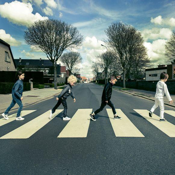 Matz Van Severen (6), Noah Knox Tola (6), Charles-loic Van Hauwaert (5) en Ferre Boone (5) als The Beatles