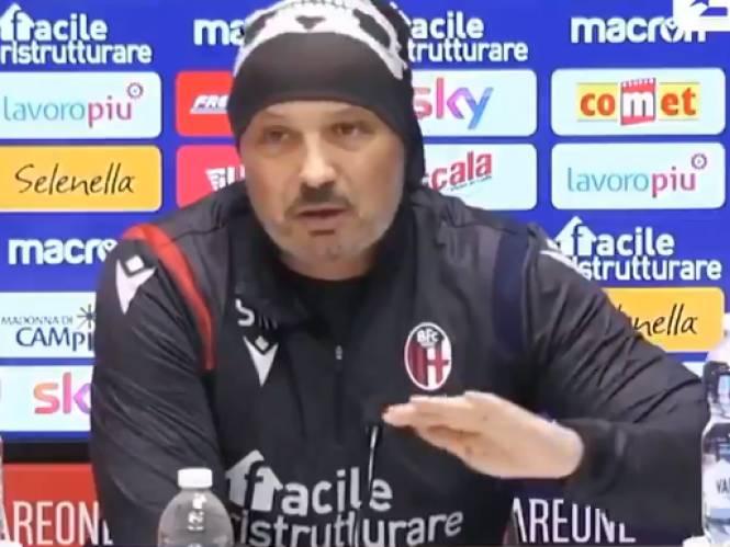 """Bologna-trainer woedend op mol in zijn kleedkamer die info lekt: """"Als ik hem vind, zal het niet fraai worden"""""""