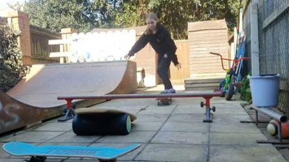 Tienjarig meisje wint nationale skateboardwedstrijd vanuit haar achtertuin