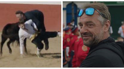 """Tom Waes riskeerde lijf en leden voor  'Reizen Waes Europa': """"Die stier vloog los in mijn kruis"""""""