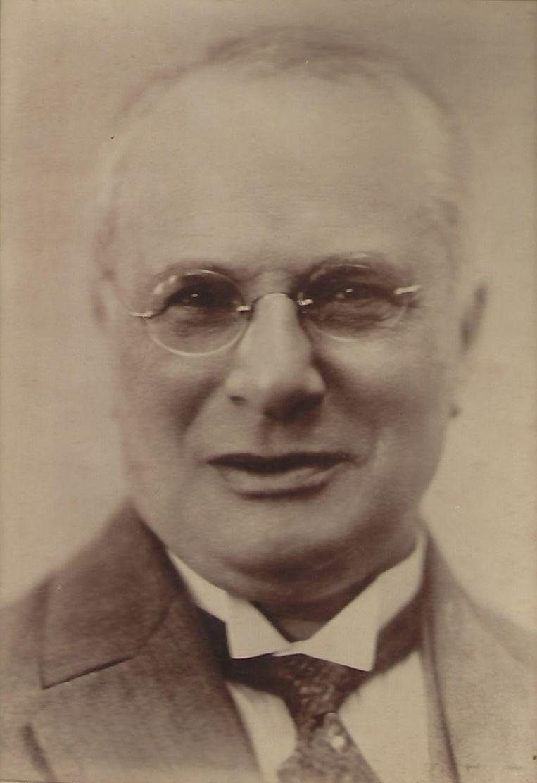 Emanuel Albert Lewenstein (1870-1937), directeur van de gelijknamige naaimachinefabriek in Amsterdam.  Beeld privé archief