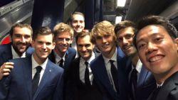 Nishikori post unieke selfie met 7 andere top 10-tennissers: herkent u ze allemaal?