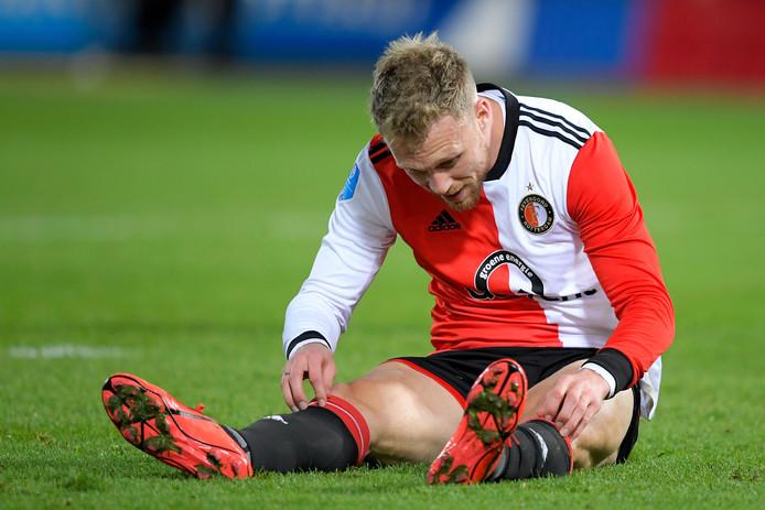 Nicolai Jørgensen is op de bank beland bij Feyenoord.