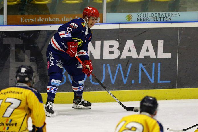 Raymond van der Schuit van Devils (hier op archiefbeeld, eerder dit seizoen) scoorde twee goals tegen het toekomstteam van Trappers.