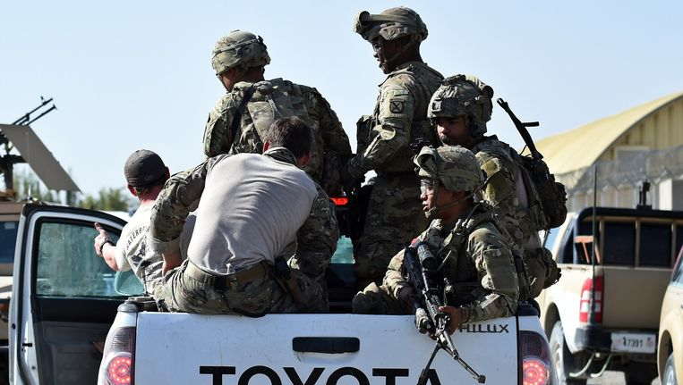 Amerikaanse militairen in Afghanistan. Beeld anp