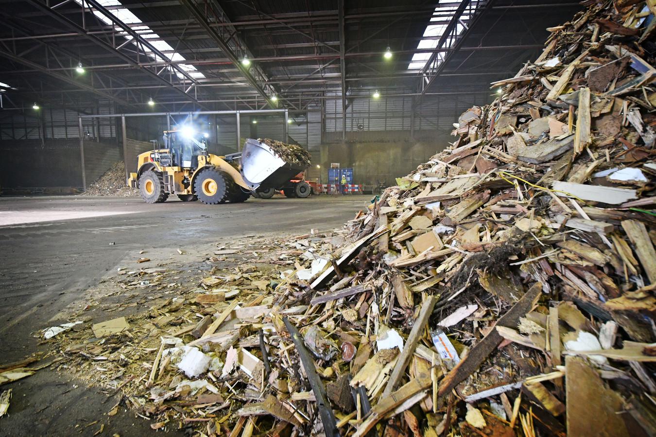 Biomassa zoals die wordt verzameld voor een centrale in Hengelo. Foto ter illustratie.