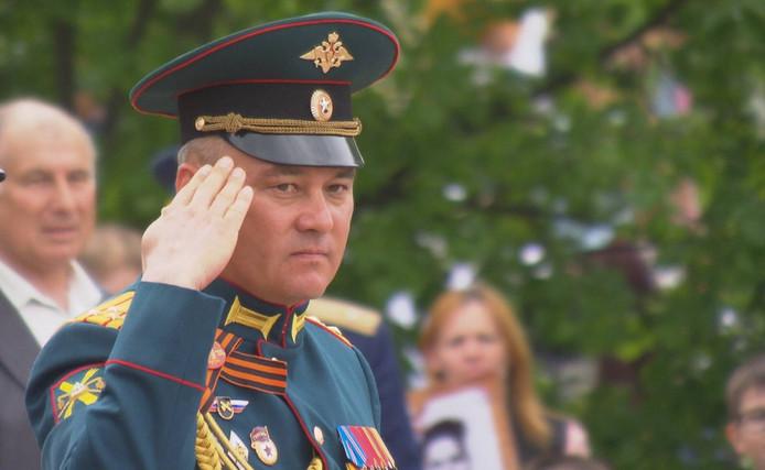 Sergej Moetskajev, commandant van de 53e Luchtafweerbrigade. De BUK die MH17 neerhaalde kwam van zijn brigade.