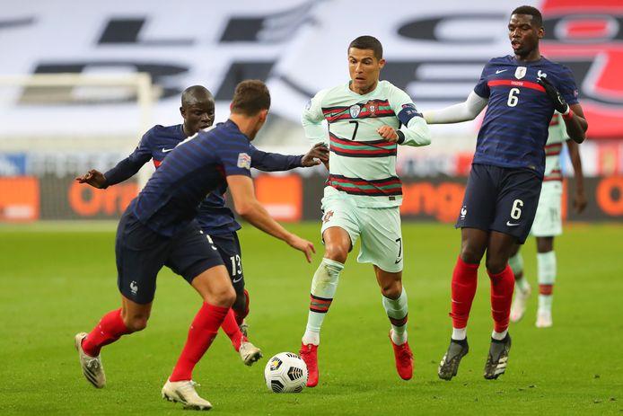 Ook Ronaldo kwam niet tot scoren in Frankrijk.