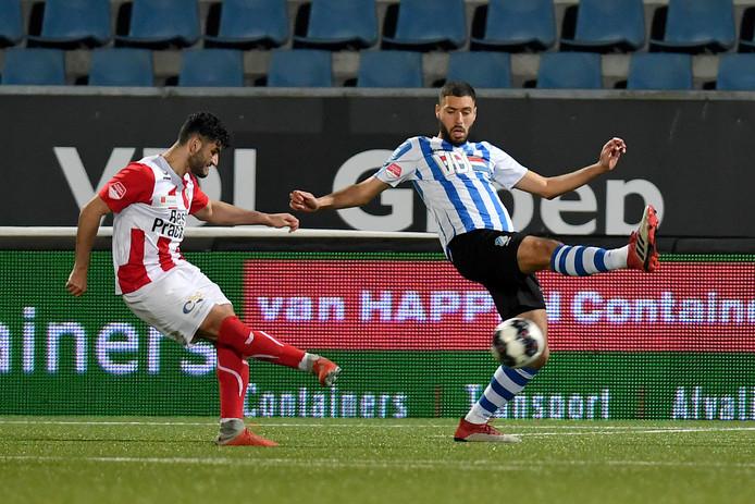 Huseyin Dogan schiet TOP Oss vlak na rust op gelijke hoogte in Eindhoven.