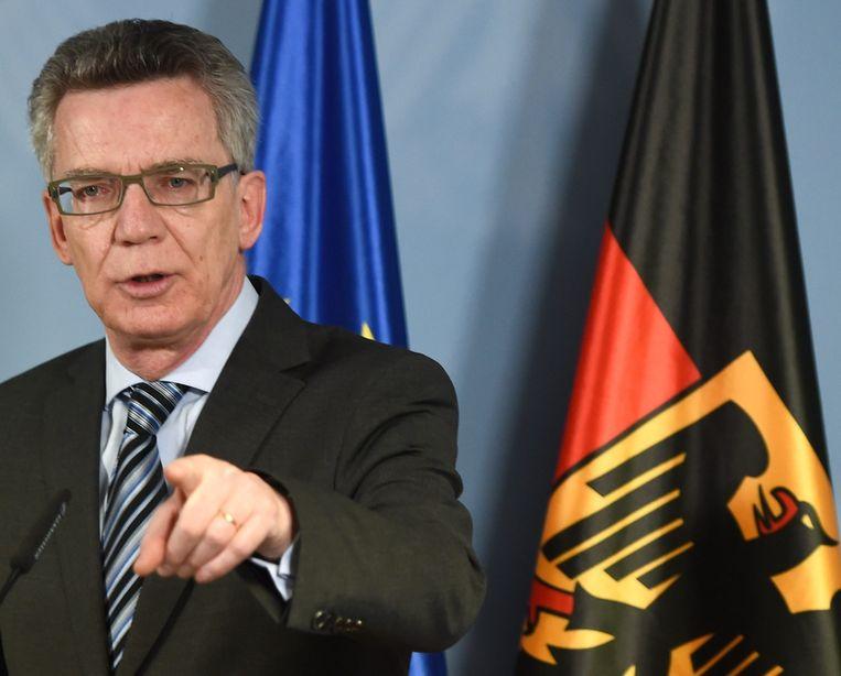 Thomas de Maizière, Oud-minister van Defensie in Duitsland. Beeld epa