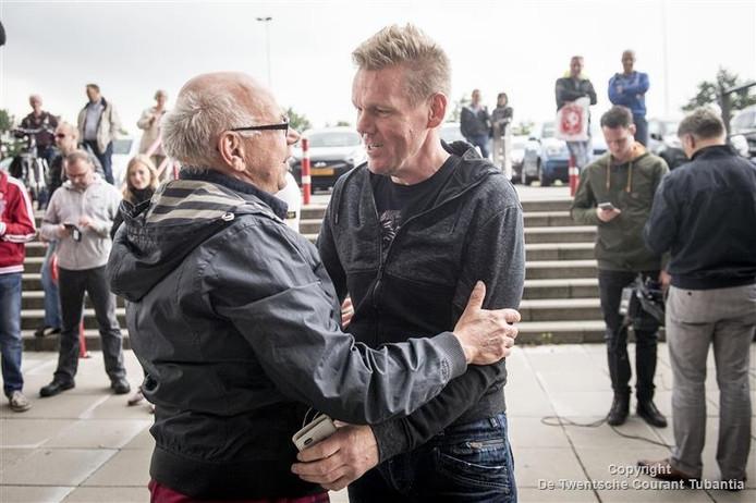 Michel Jansen arriveert bij de Veste
