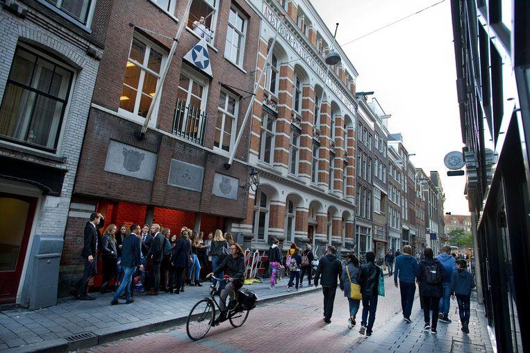 Exterieur van het gebouw van het Amsterdamse Studenten Corps Beeld ANP