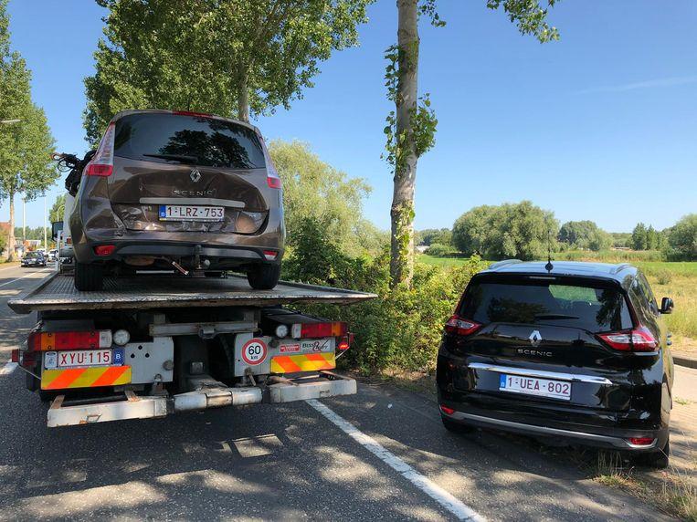 Bij het ongeval waren een Range Rover en twee Renault Scenics betrokken