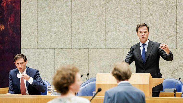 Het had een stevige dag van verantwoording kunnen zijn, maar Rutte III hield makkelijk stand Beeld ANP