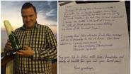 Maarten gooide een fles in de Golf van Mexico. 6 maanden later kreeg hij bericht